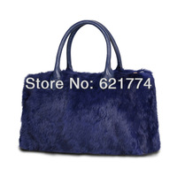 2013 New Luxury Real Rabbit Fur Women's Handbag Female Fashion Elegant Messenger Tote Shoulder Bag Wholesale Free Shipping