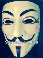 Halloween Prop Costume anonymous cosplay mask Guy Fawkes in yellow