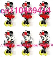 Minnie red skirt metal Cartoon  DIY mobile phone charms pendants Free shipping 50 pcs