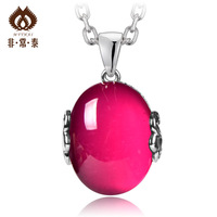Thai silver necklace female pure silver pendants fashion 925 thai silver pendant handmade accessories 11