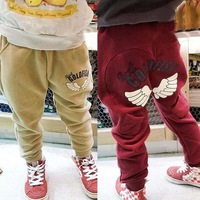 Free shipment 379 wholesale free shipping children angel wing printed casual harem pants 6pcs/lot