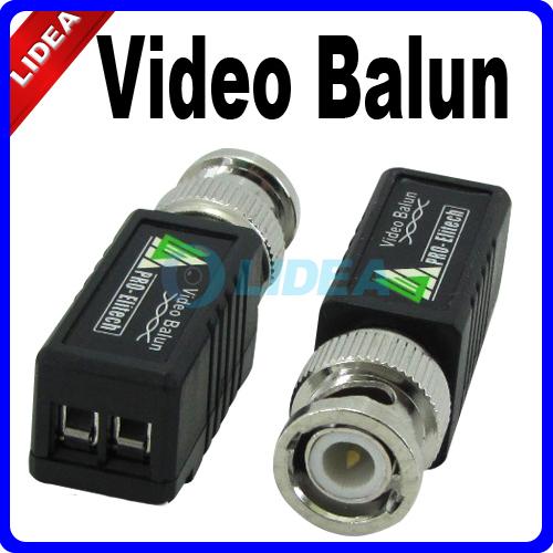 High Quality 10x UTP Network Video Balun CAT5 to Camera CCTV DVR BNC Male HK B-36(China (Mainland))