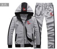 Brand sports 2013 cotton man sports suit clothing set men coat+pants 2pcs sets casual sweatshirt hoodies set