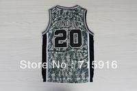 # 20 GINOBILI camouflage new fabrics embroidery basketball jersey