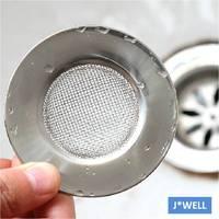 New Handle Mesh Stainless Steel Kitchen Bathroom Sink Strainer Waste Plug Drain Garbage Stopper Filter Hair Catcher Wholesale