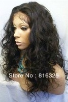 Healthy Malaysian Curly Imitate Human Remy Hair Full no Lace Wig shipping free