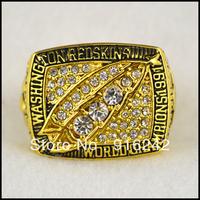 Free Shipping High Quality Replica Gold Sports 1991 XXVI Washington Redskins Championship Ring