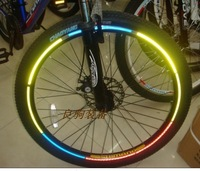 NEW Bicycle reflective stickers wheel rim wire wind fire wheels mountain bike bicycle tyre lamp  FREE SHIPPING
