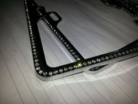 License frame rhinestone pasted diamond license plate frame license plate frame license plate frame
