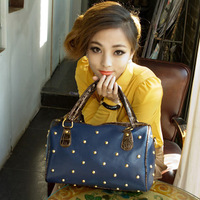 Autumn and winter women's handbag bag 2013 women's handbag fashion messenger bag rivet vintage bag