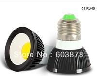 HOT SALE 4W LED  E27 SPOT LIGHT COB  AL BULB FREE SHIPPING DIMMABLE ACCEPT