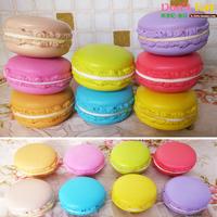 50pcs 5.5cm Pure macaron 8 colors  high artificial french macaron cake dessert model decoration props