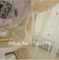 Free shipping &NEW!! Applique curtain shalian window screening customize embroidered fabric yarn window screening