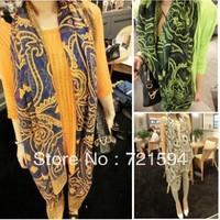 Free shipping  Cotton oversized gold abstract cashew Europe sunscreen shawl scarf shawl Bali