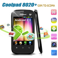 Cheap phone original coolpad 8020+3.5screen 1024MHz CPU 480x320 GSM/TD-SCDMA Android OS 2.3 3g wifi