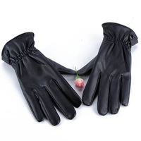Mens Leather Gloves Bike Bicycle Sport Mitten Gloves Riding Drving Warm Wear Hot Free DropShipping