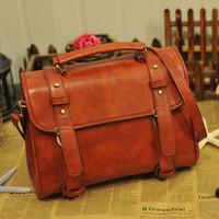2014 New women's candy color handbag vintage women leather Handbags, fashion Women Messenger Bags