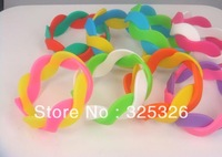 Free shipping candy color weave braid silicone wristband bracelet,cheap fashion Wrist Bands, Rubber Bracelets -NEW