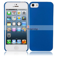 Free Shipping + Wholesale 5pcs/lot  Oil Spray Hard Cover Case for iPhone 5 Blue Ship from USA-87007026