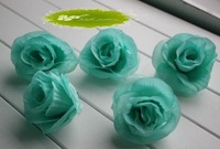 Hot sell ! 100Pcs Artificial Flowers Lake Blue  Roses Flower Head Flower Ball Flower Arrangement (A0010120)