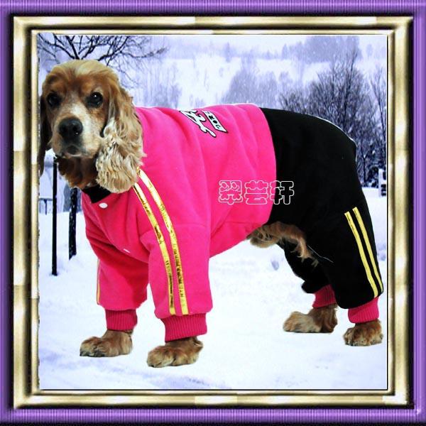 2014 new winter coat warm padded pet big dog clothes sports clothing(China (Mainland))