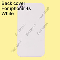 Free shipping White Factory price Glass Back Cover Battery Door Housing Replacement For Iphone 4s Repair Parts
