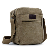 2013 Male Business Bag Canvas One Shoulder Bag Small Casual Man Bag Fashion Messenger Travel Bag