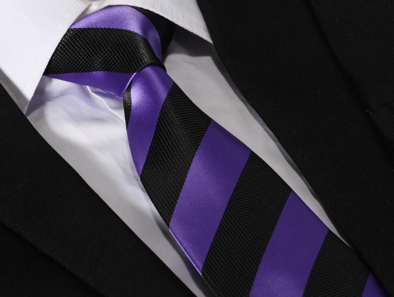 Purple Stripes in Hair Ts409p8 Purple Black Stripe