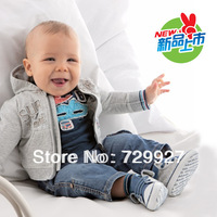 2014New hot brand Autumn and winter Cute jacket +T-shirt+ pants 3pcs suit baby wear sport winter child outerwear free shipping