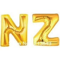 Large Size Gold Foil Balloon Alphabet English Letters A to Z For Festival, Wedding Or Party Supplies 1PC Free Shipping