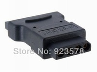 [DHL FREE SHIPPING!] WHOLESALE 300pcs/lot High Quality 15 pin SATA Male to 4 Pin Molex PC IDE Female Power Adapter Convertor