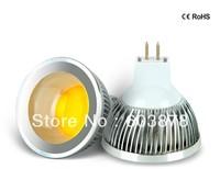 HOT SALE 5W LED  MR16 AC95-265V  ALUMINUM SPOT LIGHT COB  AL BULB FREE SHIPPING in  DIMMABLE