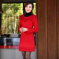Isn't don served long-sleeve bride cheongsam married cheongsam red evening dress