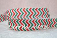 WM ribbon wholesale/OEM 5/8inch 1118033 Christmas Style Wave pattern folded over elastic Webbing  FOE 50yds/roll free shipping