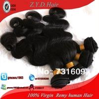 Peruvian Virgin Human Hair Grade 5A body wave 100g/pc 3pcs lot Cheap Remy Hair Extension Hair Weft