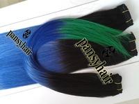 Three Tone Malaysian Virgin Hair Extension Human Hair Malaysian Omber Hair Extension