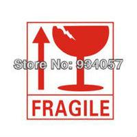 FRAGILE    The label  8cm*9cm  300pcs/lot