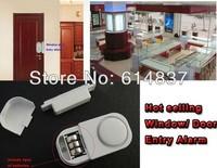 Free Shipping Window Sensor Entry Alarm & Door Sensor Alarm OFFICE Window Guard Burglar Intruder Alarm with Strong Warning Sound