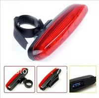 New arrival! Bicycle 5 led Tail Light Water Resistant  Mountain Bike Safety warning Back Rear Led Red Light Flashlight Lamp