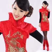 Isn't don served the bride cheongsam bridal wear fashion slim married cheongsam dress