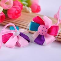 Children selling princess hair accessories cheap Rainbow petal flower hair band hair accessories free shipping