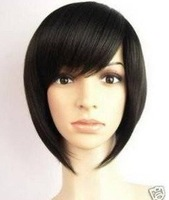 Free Shipping Fashion short Straight black women hair Wig