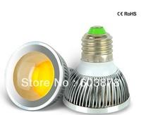 HOT SALE 5W LED IN E27SPOTLIGHT  AC95-265V  ALUMINUM SPOT LIGHT COB  AL BULB FREE SHIPPING   DIMMABLE