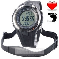 Chest Strap Pedometer Heart Rate Calories Digital Sports Watch with LCD Monitor Exercise Memory Mode Stopwatch Free Shipping