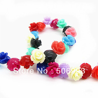 Free Shipping 50pcs/lot 8mm Fashion Natural Coral Red Flower Beads Wholesale DIY Jewellery Coral Pink Rose Beads HC225