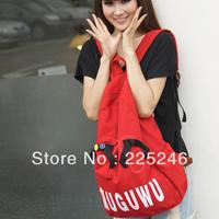 Free shipping Womens Fashion Canvas Backpack Travel Zipper Double Shouder Bag Rucksack Bookbag Dropshipping
