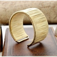 Super Star's Favorite Bangles,Designer Korea Style Women's 18K Gold Jewelry,Cool Bijouterie.Wholesale 2pcs 19%OFF,CB028
