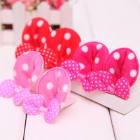 Fashionable Mickey Ears children headwear big wave point BB folder shipping