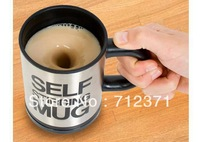 Free shippping Automatic coffee mixing cup/mug bluw stainless steel self