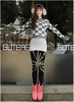 1 piece New Sale Girl Fashion Cartoon cotton Graffiti Doodle Printing Sexy Women's Leggings pant